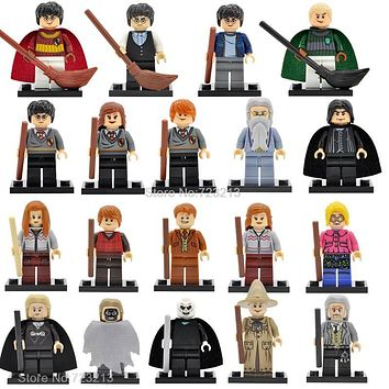 Single Sale Harry Potter Figure Hermione Ginny Ron Weasley Lord Voldemort Draco Malfoy Luna Snape Building Blocks Toys
