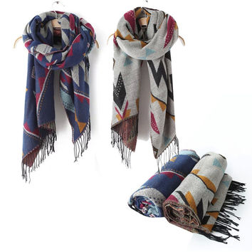 Cashmere Winter Tassels Thicken Scarf [9052546180]