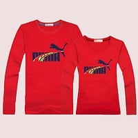 PUMA Women Men  Lover Casual Long Sleeve Top Sweater Pullover