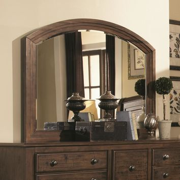 Traditional Country Dresser Mirror, Rustic Brown
