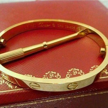 Cartier Love bracelet 18k Yellow gold size 18