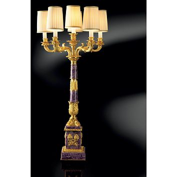 LUCAS FLOWERS CANDELABRA WITH 6 LIGHTS