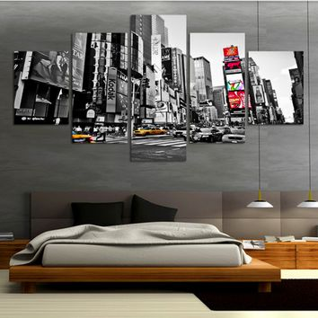 NEW YORK CITY CANVAS PANEL PAINTING