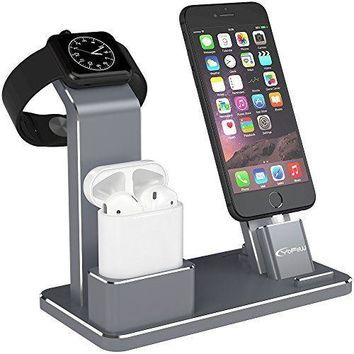 YoFeW Apple iWatch Stand Aluminum 4 in 1 Apple Watch Charging Stand AirPods S...