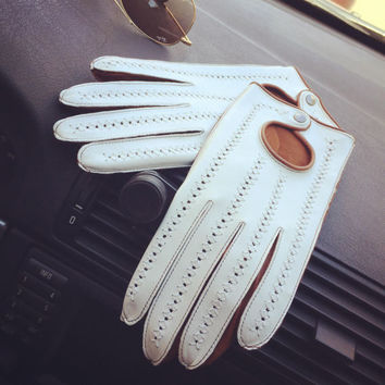 Glamour leather driving gloves / ladies/girls/women/gift for her/accessories/wedding gift/lambskin leather/soft leather/ Lili Adam's gloves