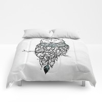 Poetic Snow Owl Comforters by LouJah