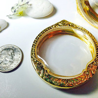 Gold Circle Engrave Pendant Cases,Supply, Reliquaries, Pendants, Clear Locket, Necklace Containers, Art,Craft