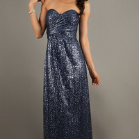 Floor Length Strapless Sweetheart Dress