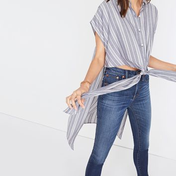 Side-Slit Tunic Shirt in Stripe : | Madewell