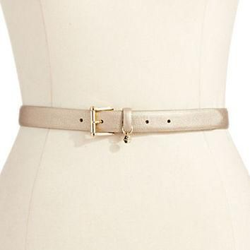 Lauren Ralph Lauren Textured Metallic Belt