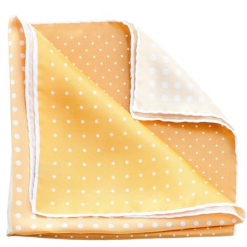 Riccardo-Large Silk Hand Hemmed Pocket Square-Yellow