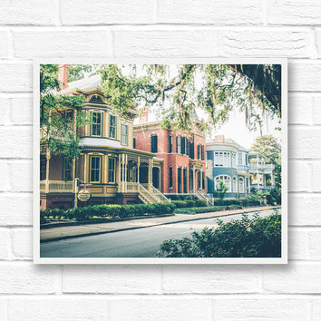 Savannah Georgia, fine art photography, Savannah photography wall art, rustic print, southern decor, architecture, historic Savannah GA
