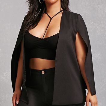 Plus Size Cape Blazer