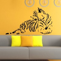 Tiger Predator Nature Animals Wall Vinyl Decal Sticker Wall Decor Home Interior Design Art Mural Z453