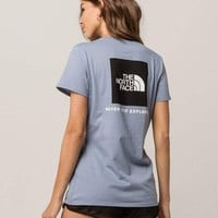 THE NORTH FACE Red Box Light Blue Womens Tee
