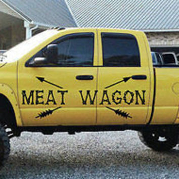 Meat Wagon Decal Meat Wagon Sticker Bow Hunting vinyl graphics will tr410