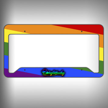 Rainbow Custom Licence Plate Frame Holder Personalized Car Accessories