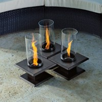 The Outdoor GreatRoom Company ALLURE-SED Allure Gel Fueled Table Top Fire Pit, Sedona Brown