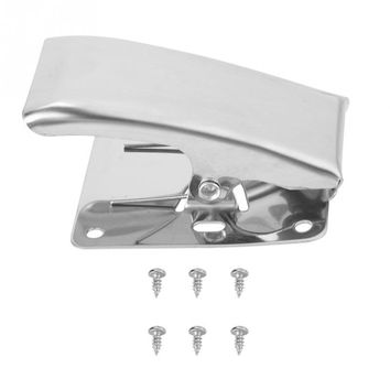 Stainless Steel Fish Fillet Clamp Deep-jaw Fish Tail Clip with Mounting Screws for Fishing Board Pesca Fish Cleaning Tools
