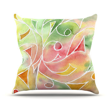"Rosie Brown ""Gift Wrap"" Multicolor Pastel Outdoor Throw Pillow"