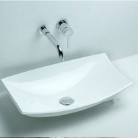 Rectangular bathroom counter top sink made of solid surface stone wash basin XRS3828