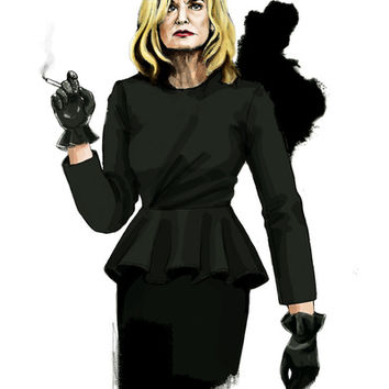 Fiona Goode, American Horror Story Art Print by Myrtle Quillamor