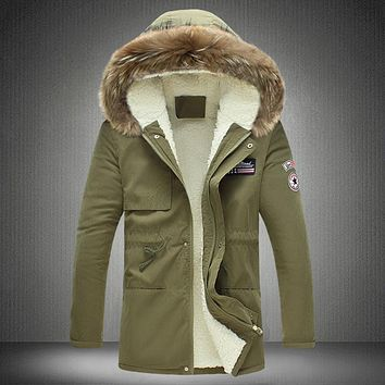 Wool Liner Down Parkas 2016 Men's Winter Hooded Long Thick warm Down Jackets New Fashion Male ArmyGreen Outwear Coats Size 5XL