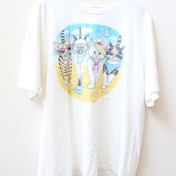 Cat Beach Bums T Shirt