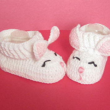 Bunny baby shoes,Bunny Booties,Crochet Bunny Slippers,Crochet Bunny Booties,Easter Bunny Booties,Crochet Baby Booties,Crochet Rabbit Booties