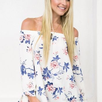 Off Shoulder Blossom Top