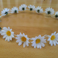 Silk Daisy Crown // Full