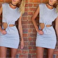 Front Twist Contemporary Dress