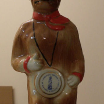 Collectible Decanter, Jim Beam Fox Decanter, 1974 Whiskey Bottle, IAJBBSC Fox Decanter
