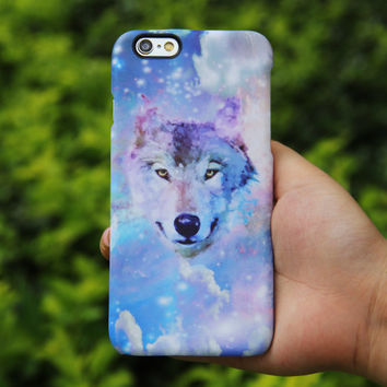 Nebula Wolf iPhone 6 Case,iPhone 6 Plus Case,iPhone 5s Case,iPhone 5C Case,4/4s Case,Samsung Galaxy S6 Edge/S6/S5/S4/S3/Note 3/Note 2 Case