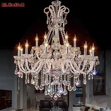 Crystal chandelier lighting fixture luxury