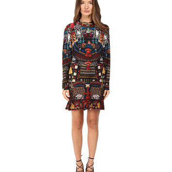 DSQUARED2 Samurai Printed Long Sleeves Dress