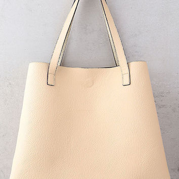 Stuff of Dreams Peach and Gold Reversible Tote