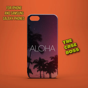 PURPLE HAWAII ALOHA Design Custom Phone Case for iPhone 6 6 Plus iPhone 5 5s 5c iphone 4 4s Samsung Galaxy S3 S4 S5 Note3 Note4 Fast!