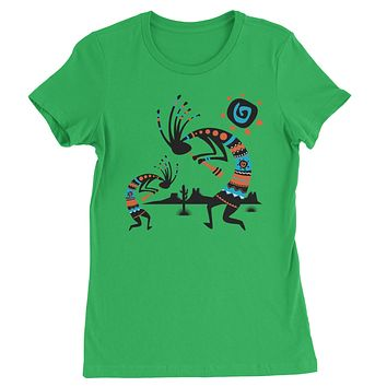 Native American Kokopelli Southwest Womens T-shirt