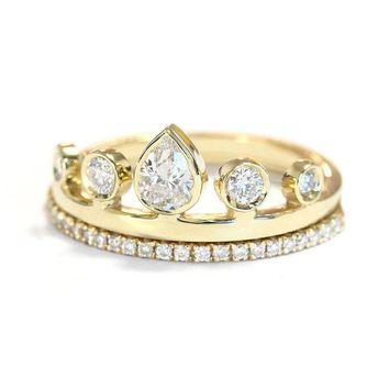 Shop Ring Settings For Pear Shaped Diamonds on Wanelo c7c93bbe79