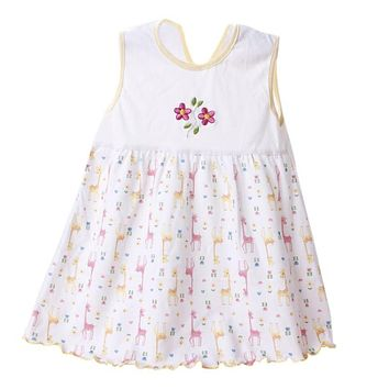 Summer Newborn Baby Girls Dress Embroidered Cotton Floral Dress Infant Girls Dress Beach Parth Dresses Pattern Send Randomly