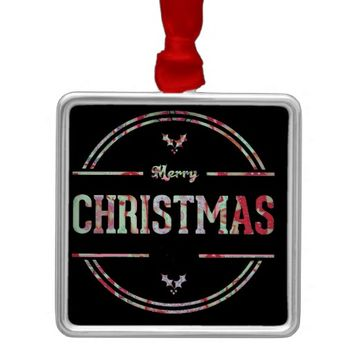 Merry Christmas Greeting Metal Ornament