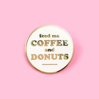 Coffee & Donuts Lapel Pin
