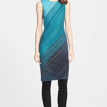 Women's St. John Collection Novelty Degrade Knit Dress,