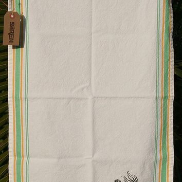 Siren Garden Stripe Tea Towel