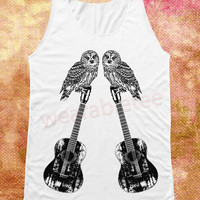 Owl Tank Top Music Tank Top Unisex Shirts Vest Women Tank Top Women Shirt Women Sleeveless Singlet