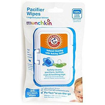 Munchkin 36 Pack Arm and Hammer Pacifier Wipes, White