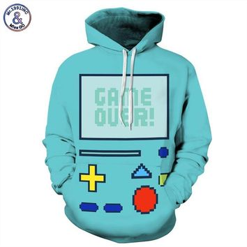 Mr.1991INC New Fashion Men/Women Hoodies Hooded 3d Sweatshirt Men Print Anime Adventure Time Robot lovely Hoody Tracksuits