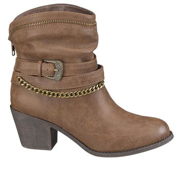 hallie western boot in brown