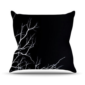 "Skye Zambrana ""Winter Black"" Outdoor Throw Pillow"